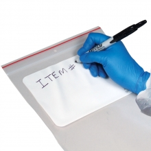 Resealable Evidence Bags w/ Writing Block