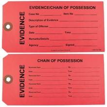 Red Evidence Tags